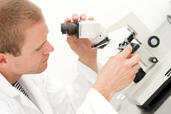 Young male lab technician Royalty Free Stock Images