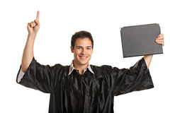 Young Male Man Holding Graduation Certificate Stock Images