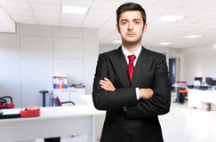 Young male manager in the office Stock Photos