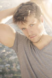 Young male model royalty free stock images