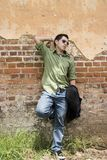 Young male model. Young model in an old building Royalty Free Stock Images