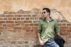 Young male model. Young model in an old building Royalty Free Stock Photography