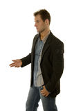 Young male model in casual outfit Royalty Free Stock Image