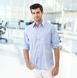 Young male office worker Royalty Free Stock Image