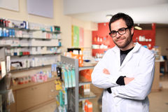 Young male pharmacist stock image