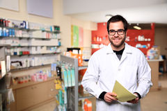 Young male pharmacist Royalty Free Stock Photography