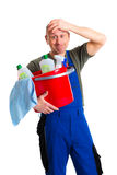 Young male professional cleaner Stock Photography