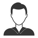 Young male profile in black and white colors Stock Photos