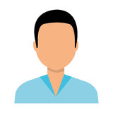 Young male profile colorful icon. Stock Photography