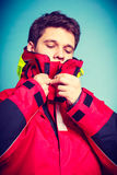Young male in protective clothing. Royalty Free Stock Photo