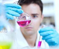 Young male researcher Royalty Free Stock Images