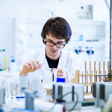 Young male researcher  in a lab Royalty Free Stock Photos