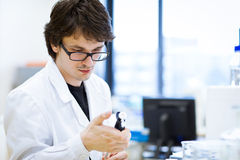 Young, male researcher/chemistry student Stock Photography