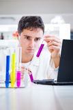 Young male researcher in a lab Stock Images