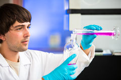 Young male researcher in a lab Stock Photos
