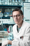 Young male researcher in the lab Royalty Free Stock Image