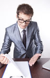 Young male secretary Royalty Free Stock Images