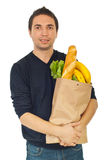 Young male shopping groceries Stock Photo