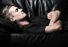 Young male sleeping Stock Image