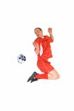 Young male soccer player Stock Images