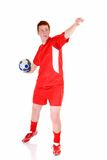 Young male soccer player Stock Image