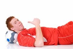 Young male soccer player Stock Photos