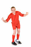 Young male soccer player Stock Photography
