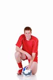 Young male soccer player Royalty Free Stock Images