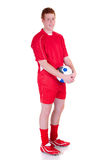 Young male soccer player Royalty Free Stock Photo