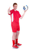 Young male soccer player Stock Photo