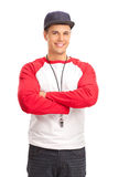 Young male sports coach Royalty Free Stock Images