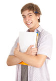 Young male student with books Stock Photography