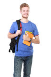 Young male student with books Stock Images