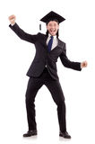 Young male student graduated from high school Stock Image