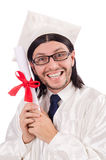 Young male student graduated from high school Royalty Free Stock Images