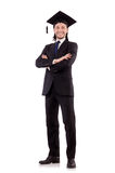 Young male student graduated from high school Royalty Free Stock Photos