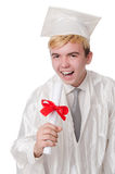 Young male student graduated from high school Stock Photography