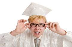 Young male student graduated from high school Royalty Free Stock Photography