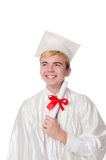 Young male student graduated from high school Stock Photos