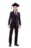 Young male student graduated from high school Royalty Free Stock Photo