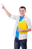 Young male student isolated Royalty Free Stock Images
