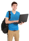 Young male student with laptop Stock Photos