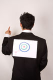Young male with target on his back Stock Image