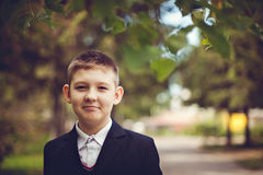Young male teenager smiling Royalty Free Stock Photography
