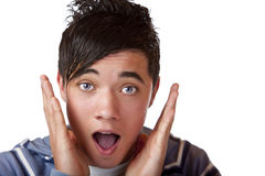 Young male teenager is surprised Stock Image