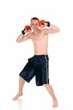 Young male thai boxer Royalty Free Stock Photography