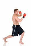 Young male thai boxer Royalty Free Stock Images