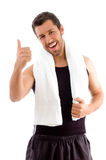 Young male with thumbs up Stock Photography