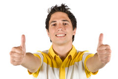 Young male with thumbs up Royalty Free Stock Photos