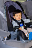 Young Male Toddler In Car Seat Stock Photography
